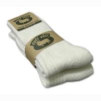 Ponožky z ovčí vlny 425g - bílé