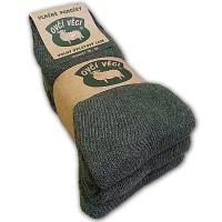 Ponožky z ovčí vlny - zelené - sada 3 ks