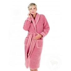 Župan z ovčí vlny růžový