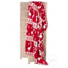 Vlněná deka NORD - červená