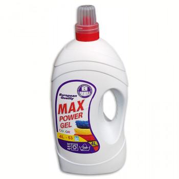 Max Power gel 4L tekutý prací prostředek