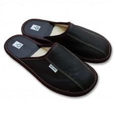 Luxusní pantofle s ovčí vlnou pánské
