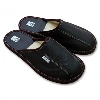 Luxusní pánské pantofle s ovčí vlnou