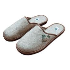 Pantofle filcové uzavřené pánské, s logem