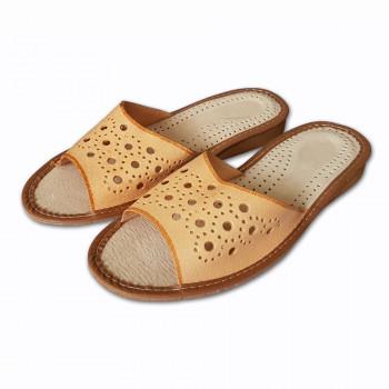 Dámské pantofle z přírodní kůže S-07