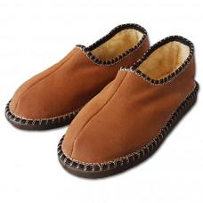 Pantofle s patou, hnědé
