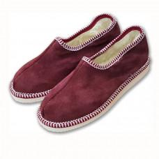 Pantofle s patou, vínové