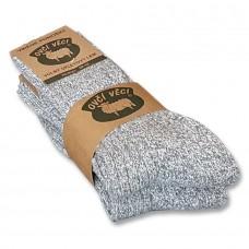 Ponožky z ovčí vlny 425g -šedé sada 2 ks