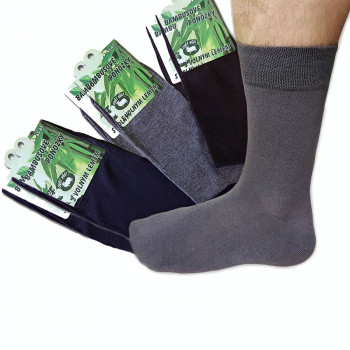 Ponožky bambusové, mix barev 6 ks hladké