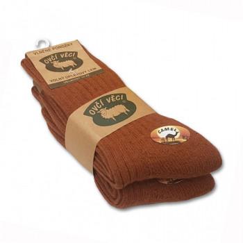 Ponožky z ovčí vlny 425g -CAMEL 2 ks
