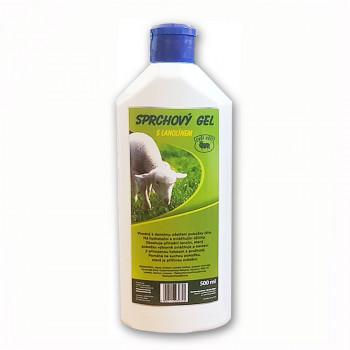 Sprchový gel s lanolínem,   500 ml