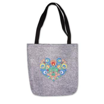 Filcová kabelka, suchý zip