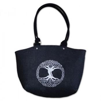 Filcová kabelka 178 černá