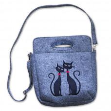Filcová kabelka kufřík 0004