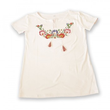 Dámské tričko s květinovým vzorem
