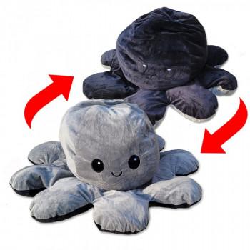 Oboustranná plyšová chobotnice polštář ⌀ 40 cm