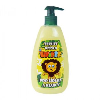 Dětské tekuté mýdlo Lvíček, banán, 500ml