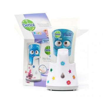 DETTOL Kids Aloe Vera Dobrodruh bezdotykový dávkovač mýdla a náplň s mýdlem 250 ml