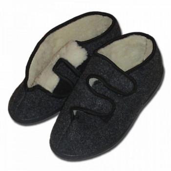 Pantofle valašské s ovčí vlnou, nízké such.zip