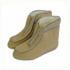 Valašské boty s ovčí vlnou - důchodky - Béžové