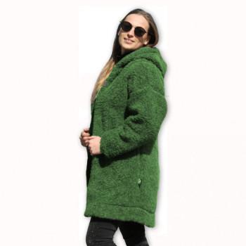 Kabát s kapucí z ovčí vlny DIANA -39