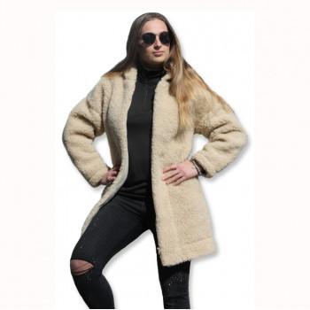 Kabát s kapucí z ovčí vlny DIANA