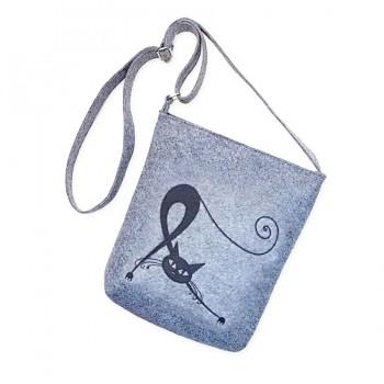 Filcová kabelka na suchý zip