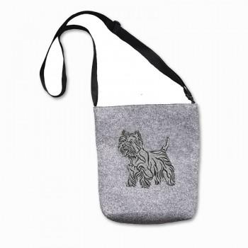 Filcová kabelka na suchý zip 0081