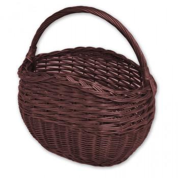 Proutěný košík hnědý - 624