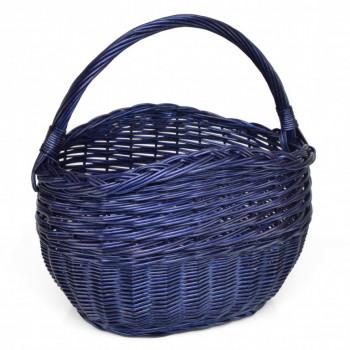 Proutěný košík modrý