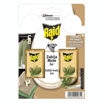 RAID háček proti šatním molům s vůní cedru 2 ks