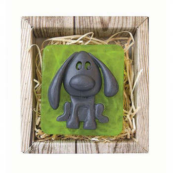 Pes ručně vyráběné mýdlo v krabičce 80 g