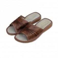 Dámské pantofle hnědé