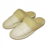 Pantofle dámské s ovčí vlnou LUX