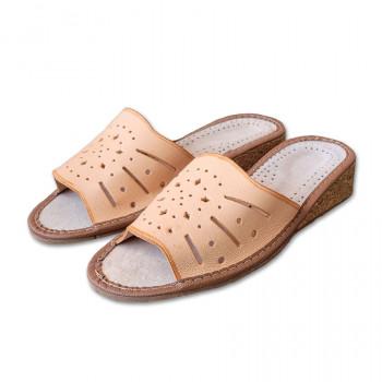 Korkové pantofle na klínku