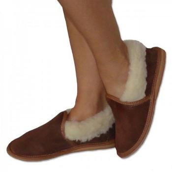 Uzavřené pantofle s ovčí vlnou
