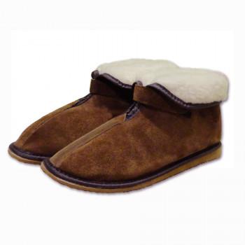 Pantofle kotníkové s ovčí vlnou