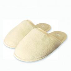 Vlněné pantofle přírodní