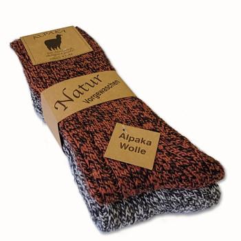 Vlněné ponožky Lama Alpaka - sada 2 ks