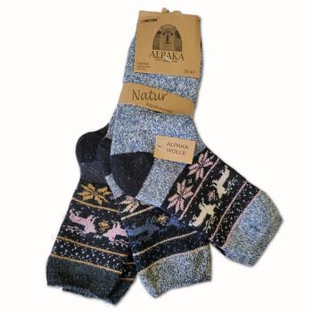 Vlněné ponožky Lama Alpaka - sada 3 ks