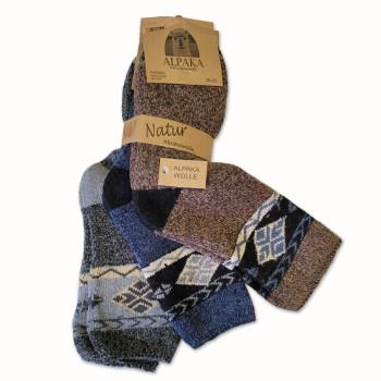 Vlněné ponožky Lama Alpaka 91110 - sada 3 ks