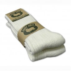 Ponožky z ovčí vlny 425g - bílé sada 2ks