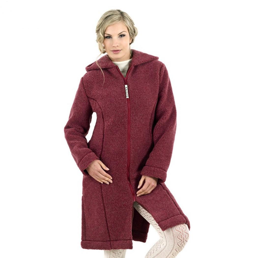 308ec707156 Dámský kabát z ovčí vlny Merino