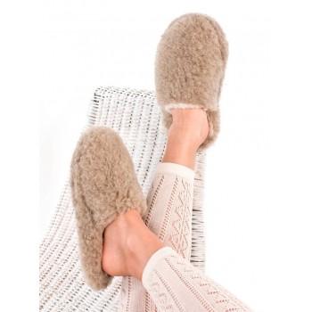 Vlněné pantofle, nízké