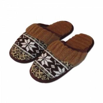 Vlněné pantofle s norským vzorem