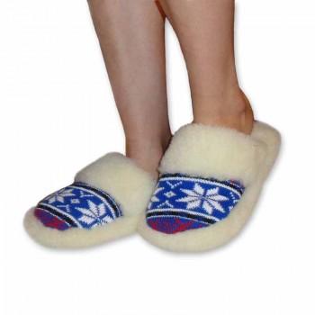 Pantofle vlněné nízké