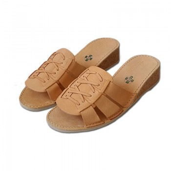 Dámské pantofle - korkové - na klínku