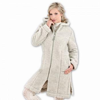 Kabát s kapucí LINEA z ovčí vlny