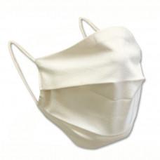 Bavlněná ochranná rouška dvouvrstvá bílá