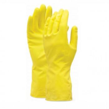 Úklidové rukavice z přírodní pryže Žluté